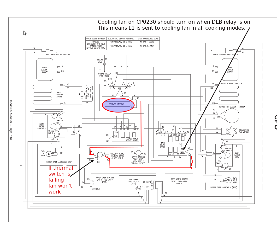 Dacor  Wiring Diagram for CP0230