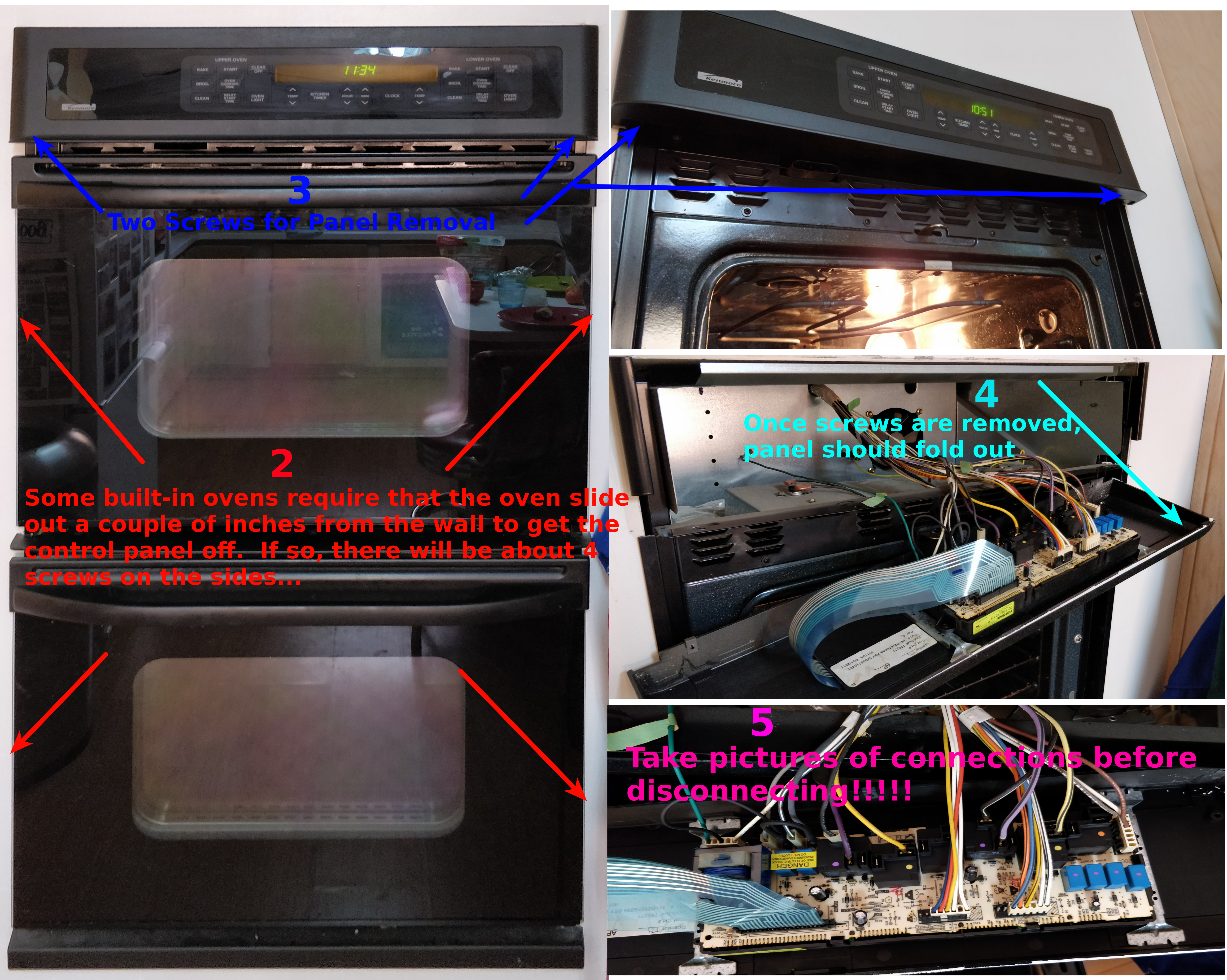 Remove an Oven Control Board – A simple How To   ApplianceBoards on
