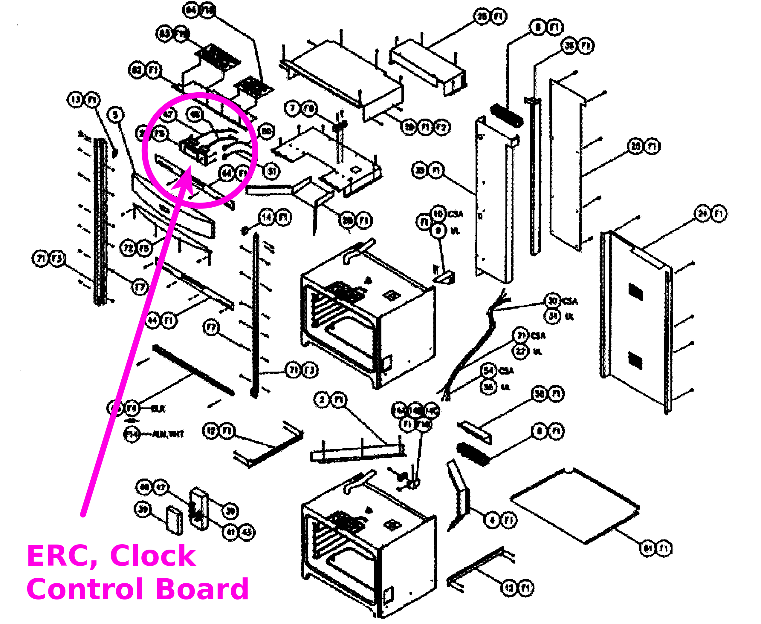 dacor double wall oven wiring schematic for    dacor    control board repair erd  ersd  cps  cpd  pgr     dacor    control board repair erd  ersd  cps  cpd  pgr
