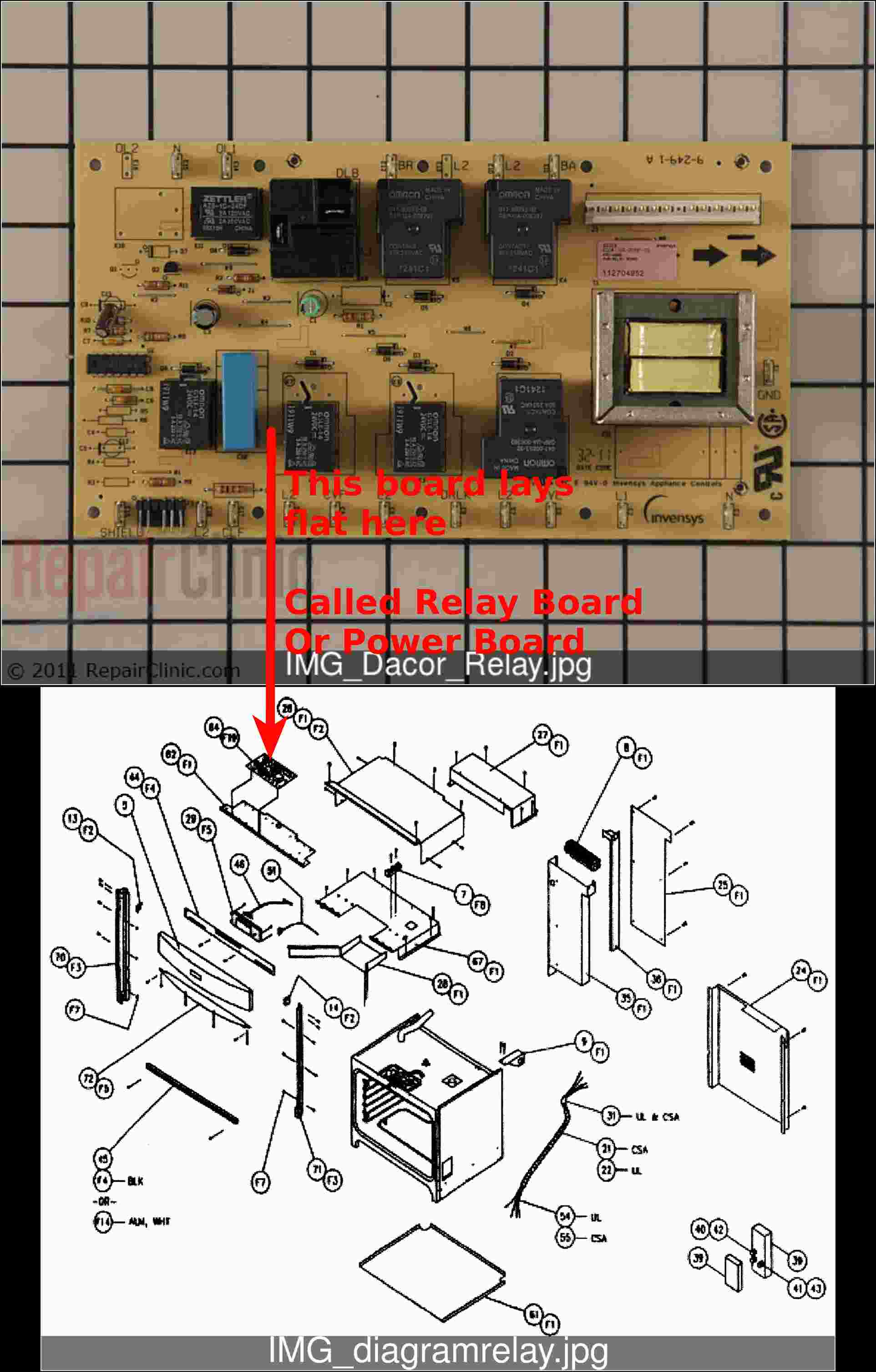 Dacor Ovens Applianceboards. Still Have Questions Contact Applianceboardrepair They Will Gladly Advise You By Email Or Phone. Wiring. Kebc147vss02 Electric Oven Wiring Diagram At Scoala.co